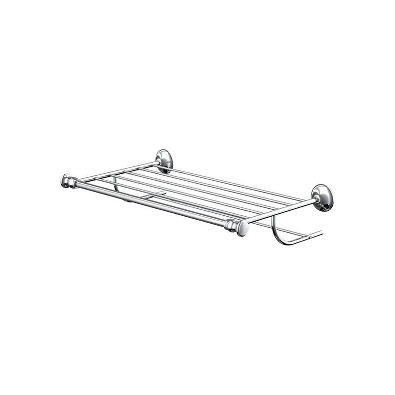 Porte-serviettes rack étagère avec barrette 50cm Palace