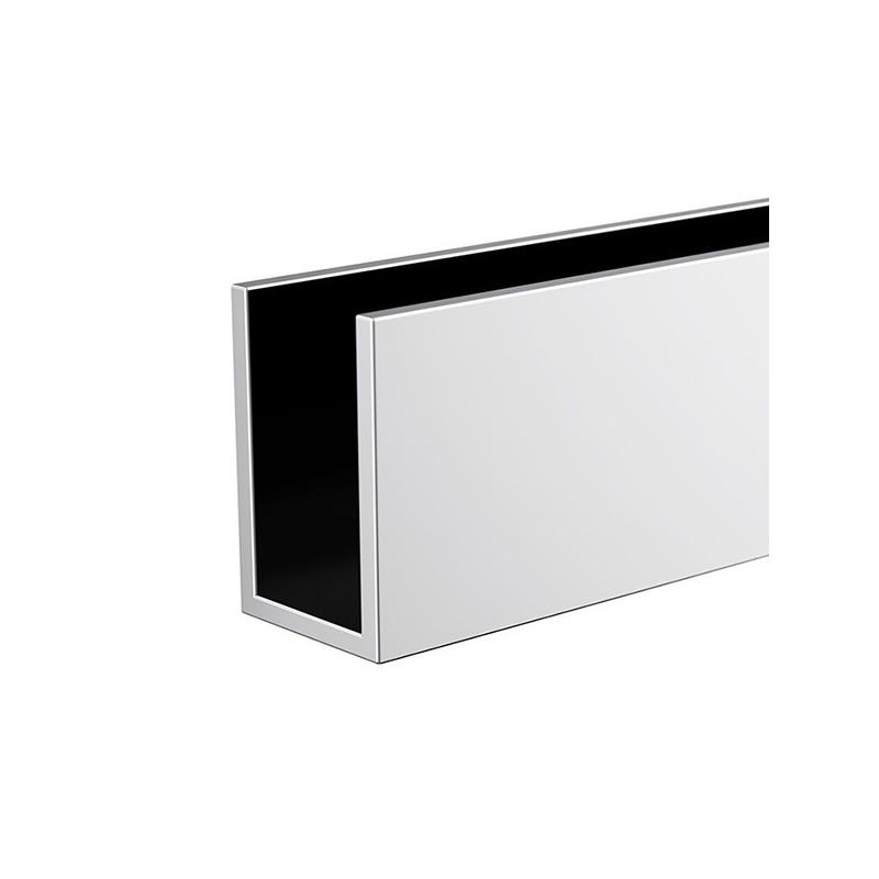 Profilé U horizontal - laiton chromé 68.5cm