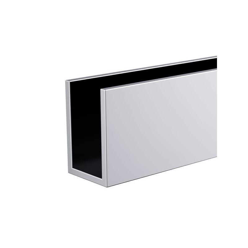 Horizontal « U »- profile rail - chromed brass 108.5cm