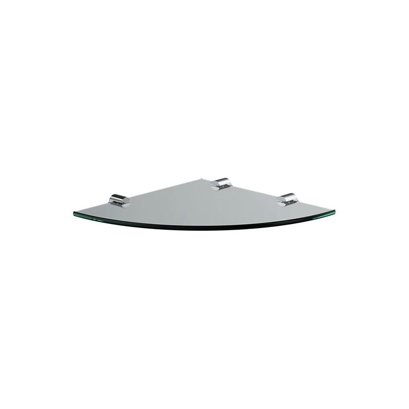 Corner glass shelf 30 x 30 x 0.8cm