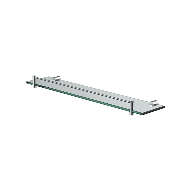 Glass shelf with railing 50 x 12 x 0.5cm