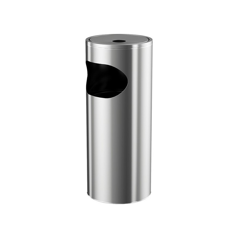 Dustbin with ashtray