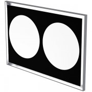 Mirror with frame and LED back lighting and defogger 140 x 90cm
