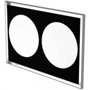 """Зеркало со светодиодной подсветкой, незапотевающая поверхность, эффект """"картина"""" 140 x 90cm"""