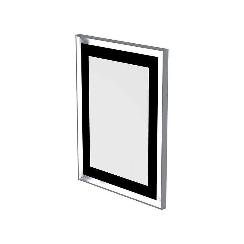Miroir LED rétro éclairé effet tableau et antibuée 70 x 90cm