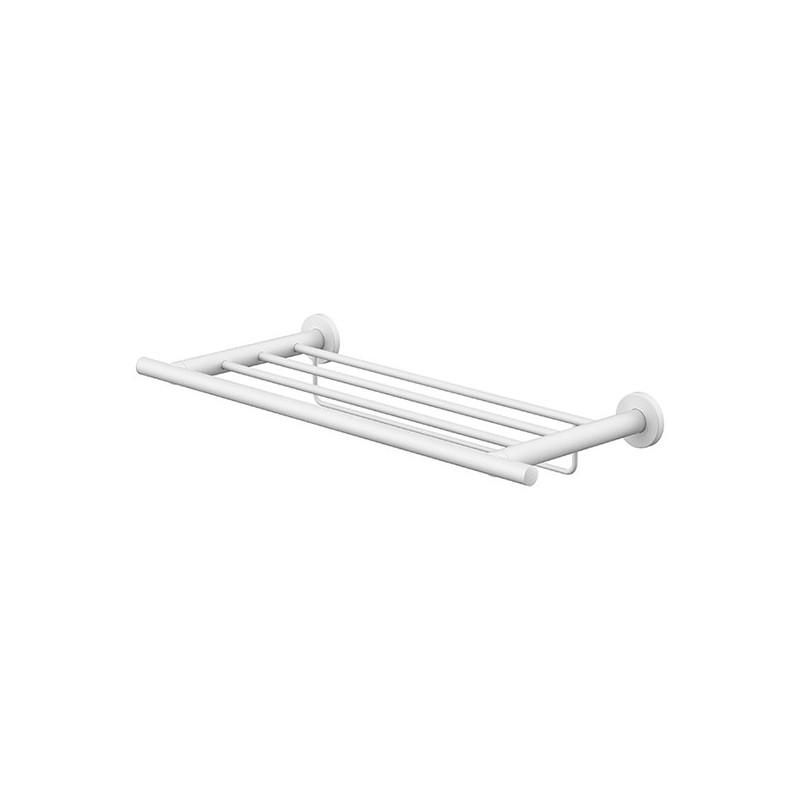 Porte-serviettes rack étagère avec barrette 50cm White Techni-Line