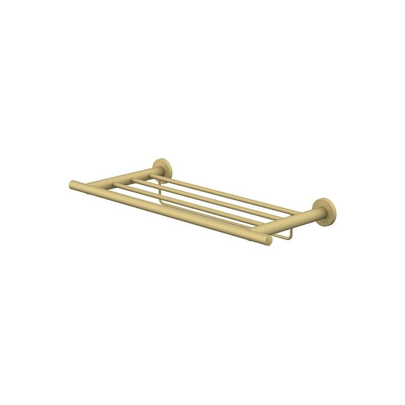 Porte-serviettes rack étagère avec barrette 50cm Gold Techni-Line