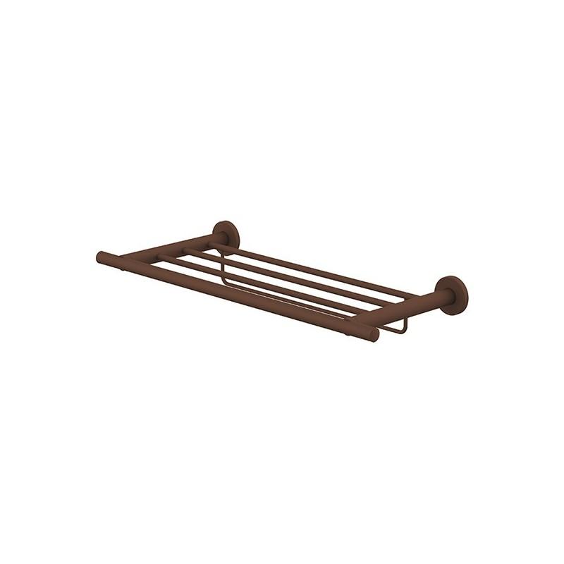 Porte-serviettes rack étagère avec barrette 50cm Rust Techni-Line