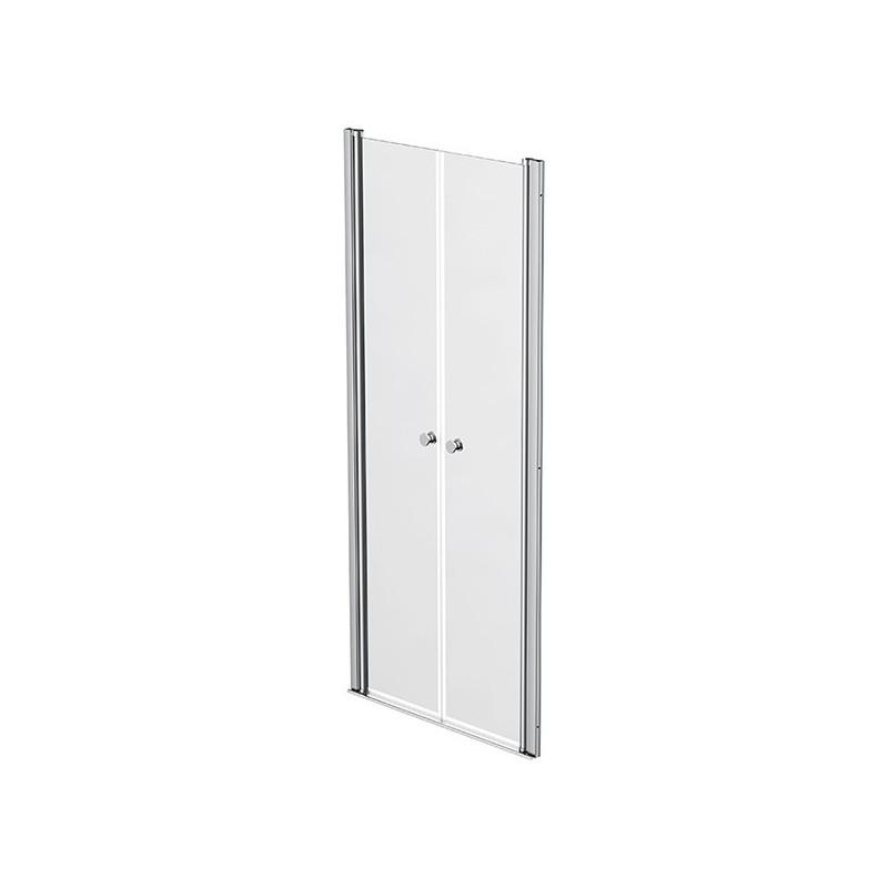 Shower screen 2 swivelling doors 82 - 85cm Emeraude