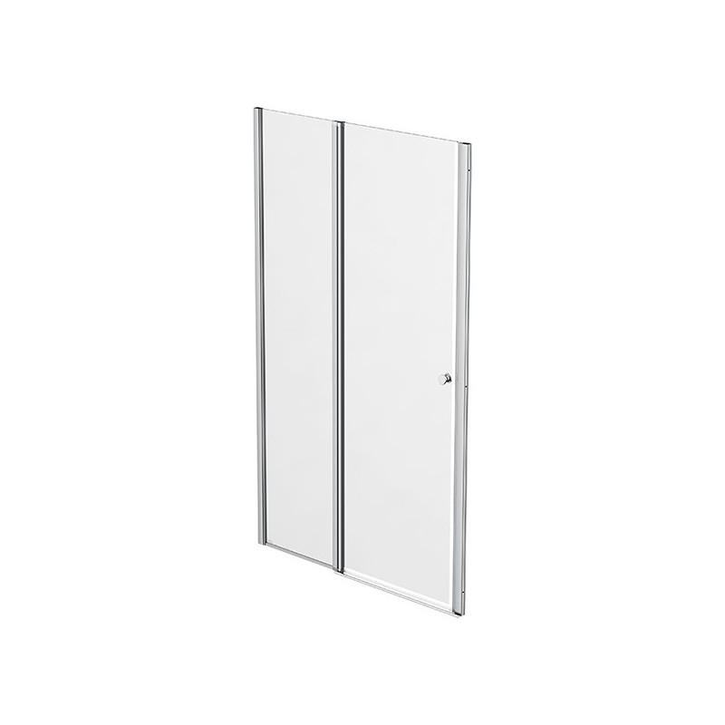 Façade 1 porte pivotante à rotation centrale + 1 panneau fixe 107-110cm Emeraude