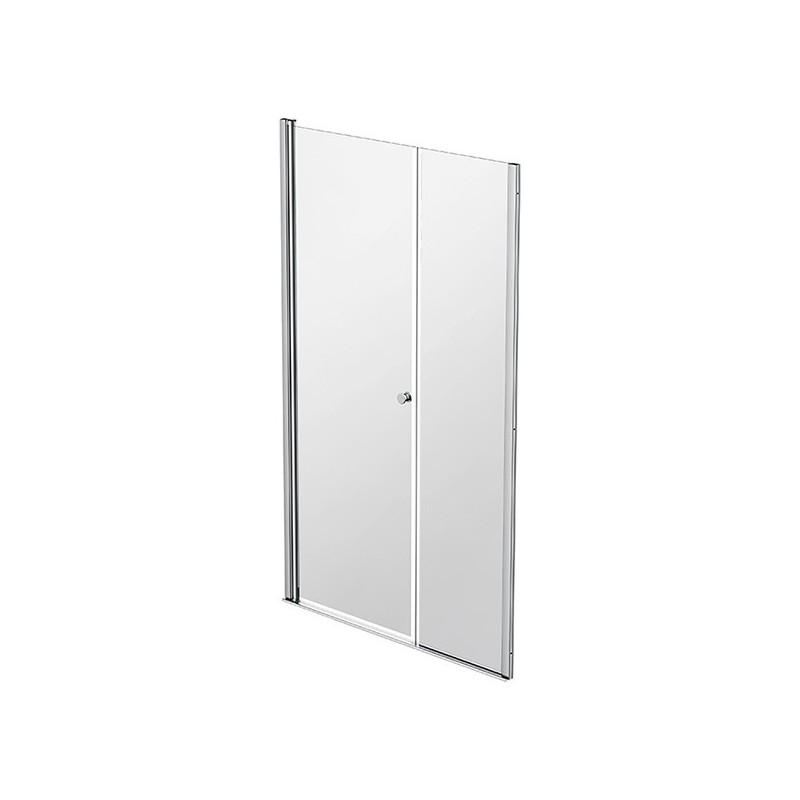 Façade 1 porte pivotante à rotation murale + 1 panneau fixe 87-90cm Emeraude
