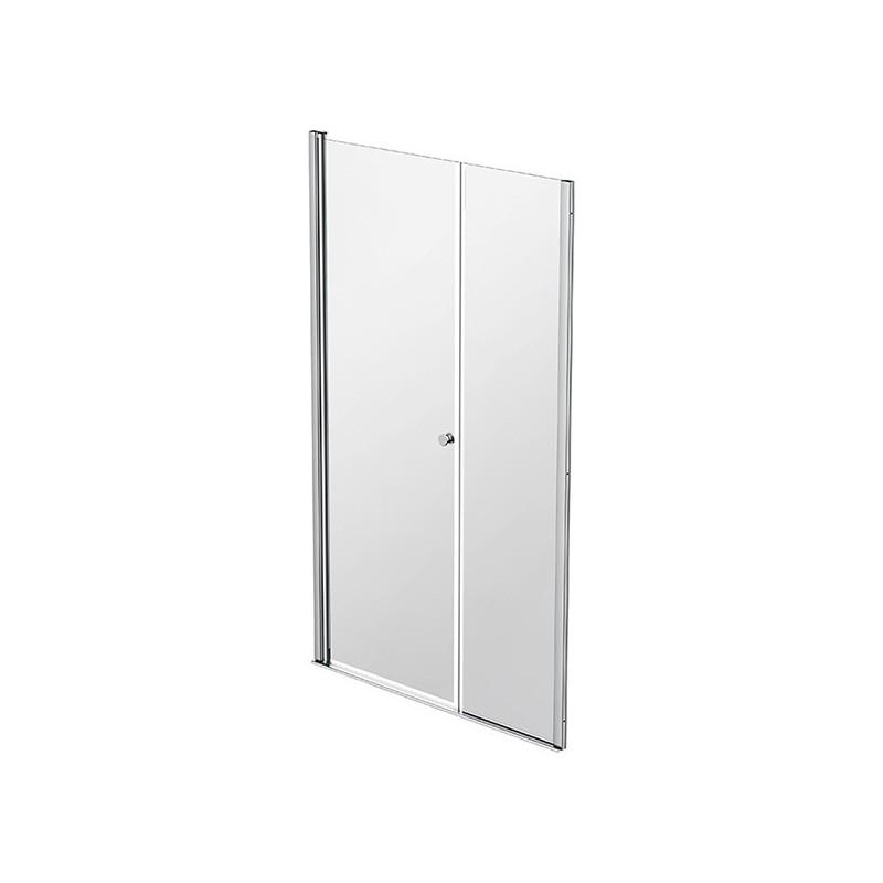 Façade 1 porte pivotante à rotation murale + 1 panneau fixe 97-100cm Emeraude