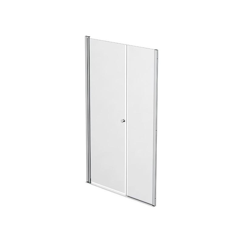 Façade 1 porte pivotante à rotation murale + 1 panneau fixe 107-110cm Emeraude