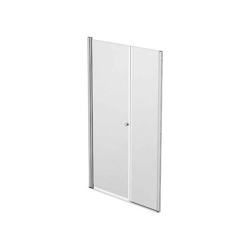 Façade 1 porte pivotante à rotation murale + 1 panneau fixe 117-120cm Emeraude
