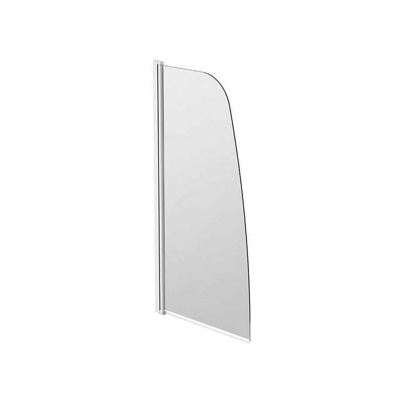 Swivelling bath screen - Rounded glass top 80 x 140cm Emeraude