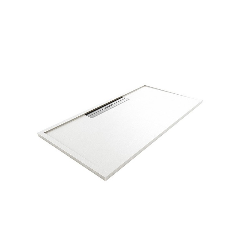 Plato de ducha + rejilla + sifón 80 x 180cm